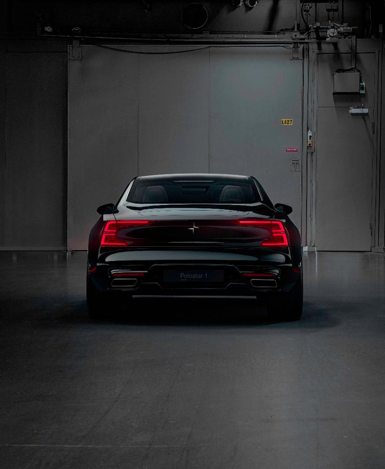 "While similar to the taillights on the 2016 Volvo 40.2 concept, the Polestar 1's rear lighting signature is more of an ""E"" than a ""C,"" fitting for a company that specializes in electrified vehicles"