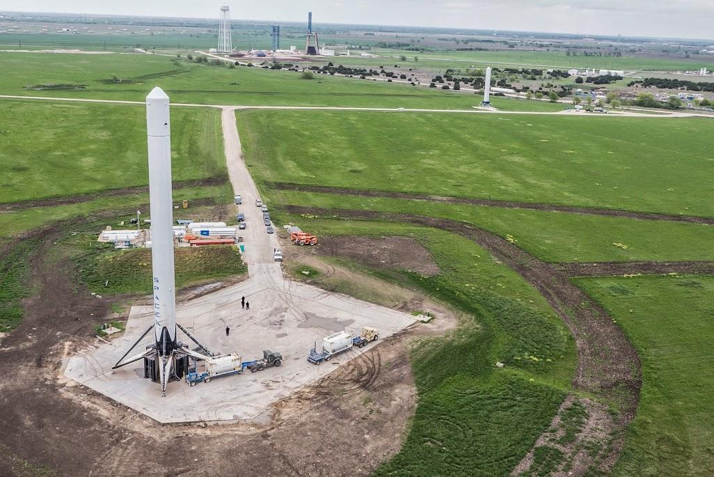 An FR9 test rocket awaiting flight