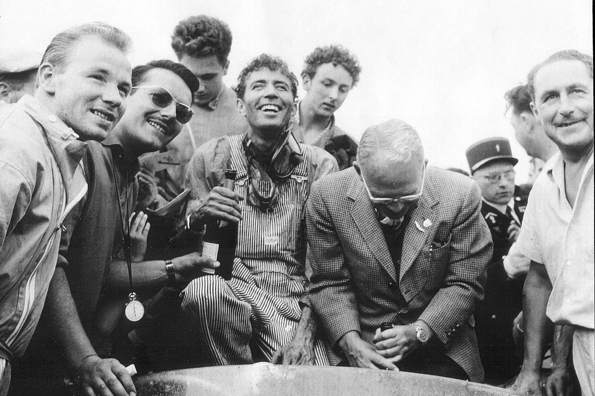 Carroll Shelby is considered one of the great American success stories of the 20th century. Here he is after winning Le Mans in his Chicken farming overalls