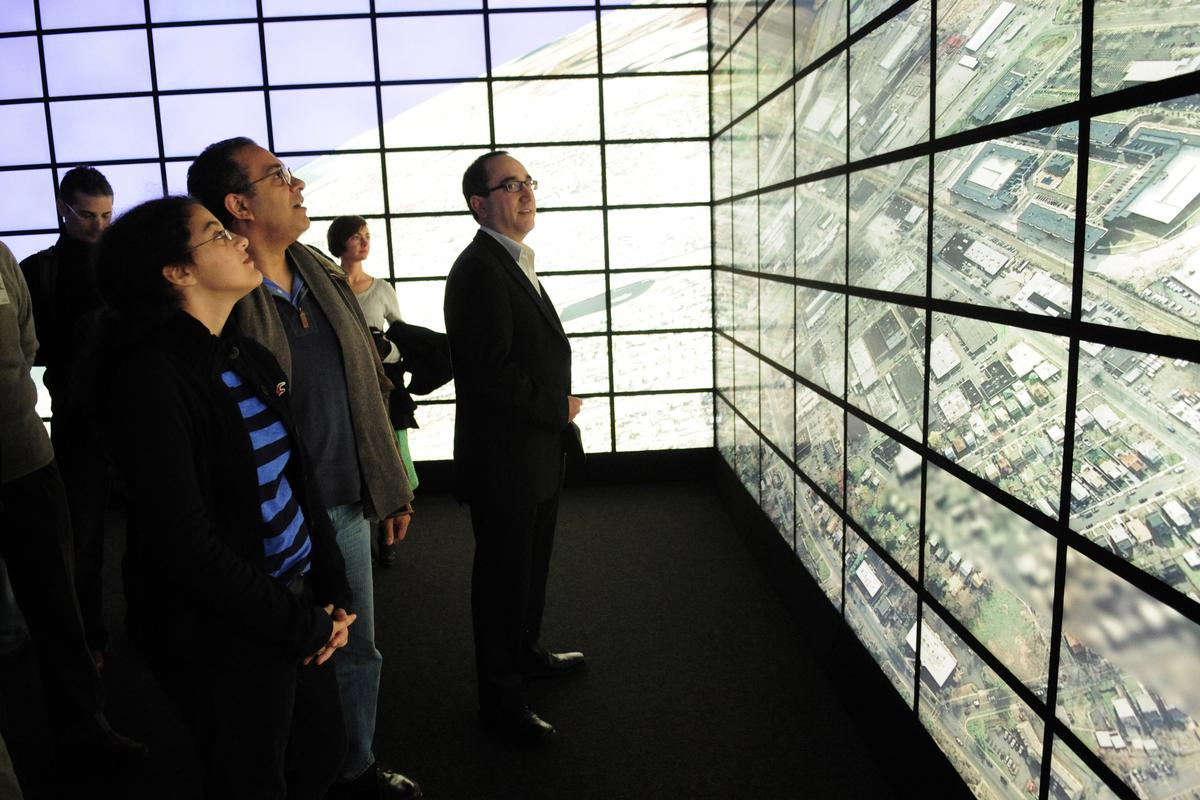 The Reality Deck at SBU boasts 416 high resolution screens