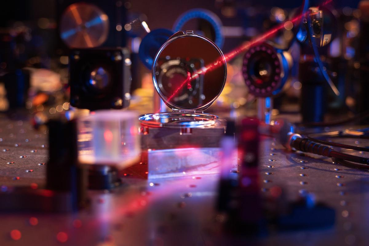 The mirror developed at the Max Planck Institute of Quantum Optics measures just seven microns across