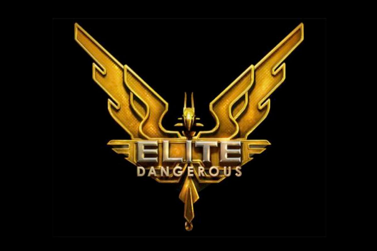 The preliminary logo for Elite: Dangerous, now being funded through Kickstarter