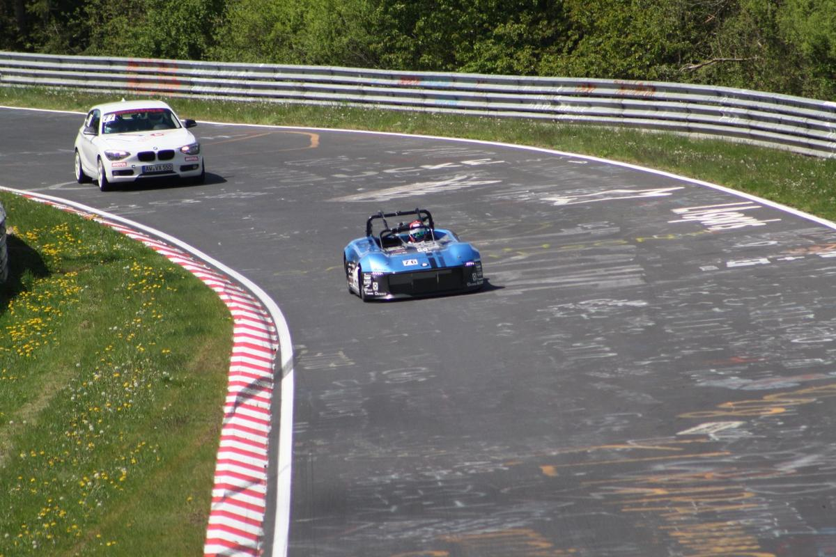 The Forze VI on the track