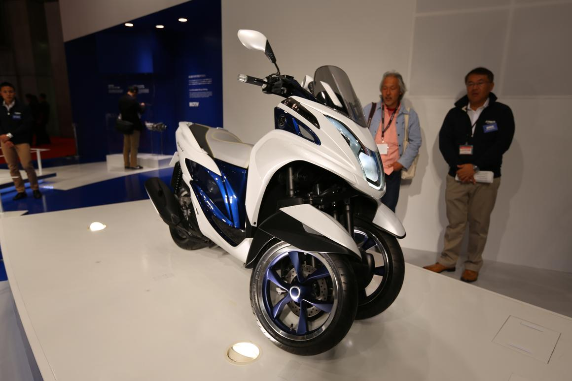 The Yamaha Tricity at the Tokyo Motor Show