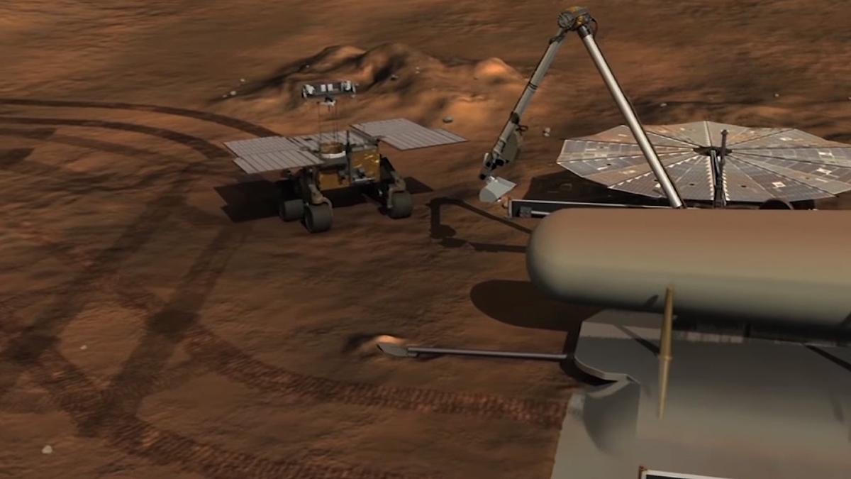 Fetch is a simple rover designed to collect sample tubes from a previous missions for return to Earth