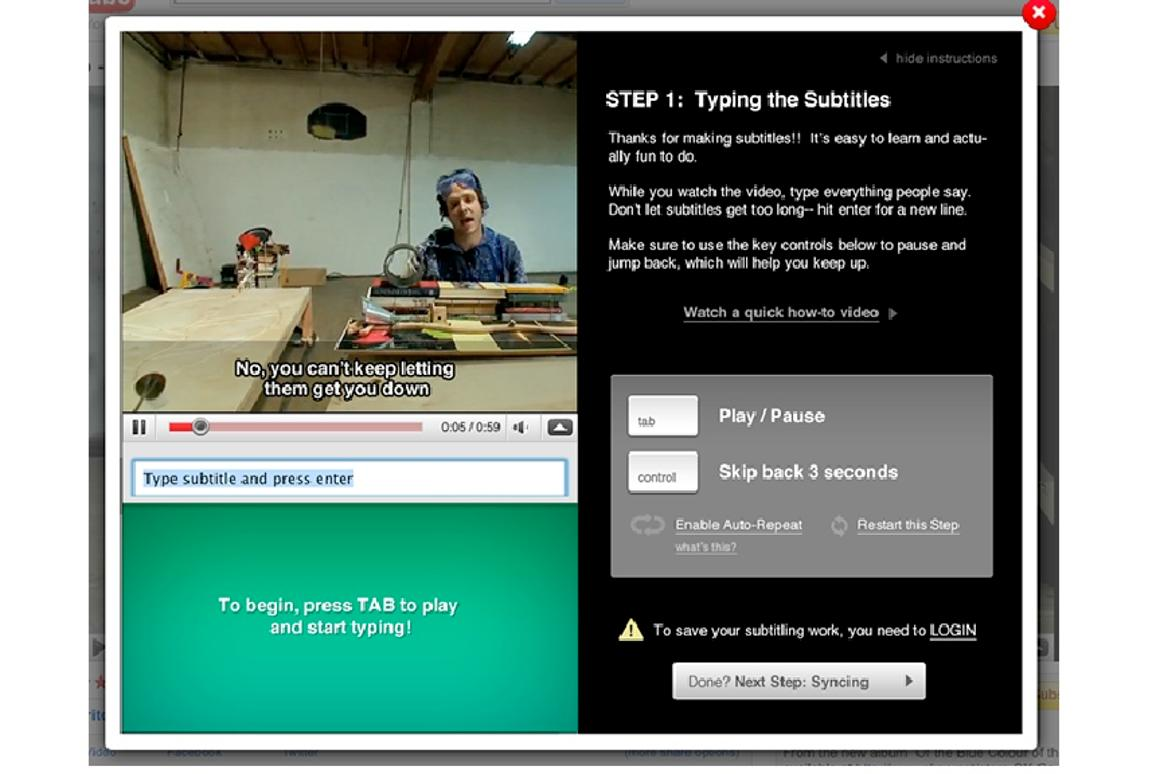 Universal Subtitles aims to caption or translate every web video