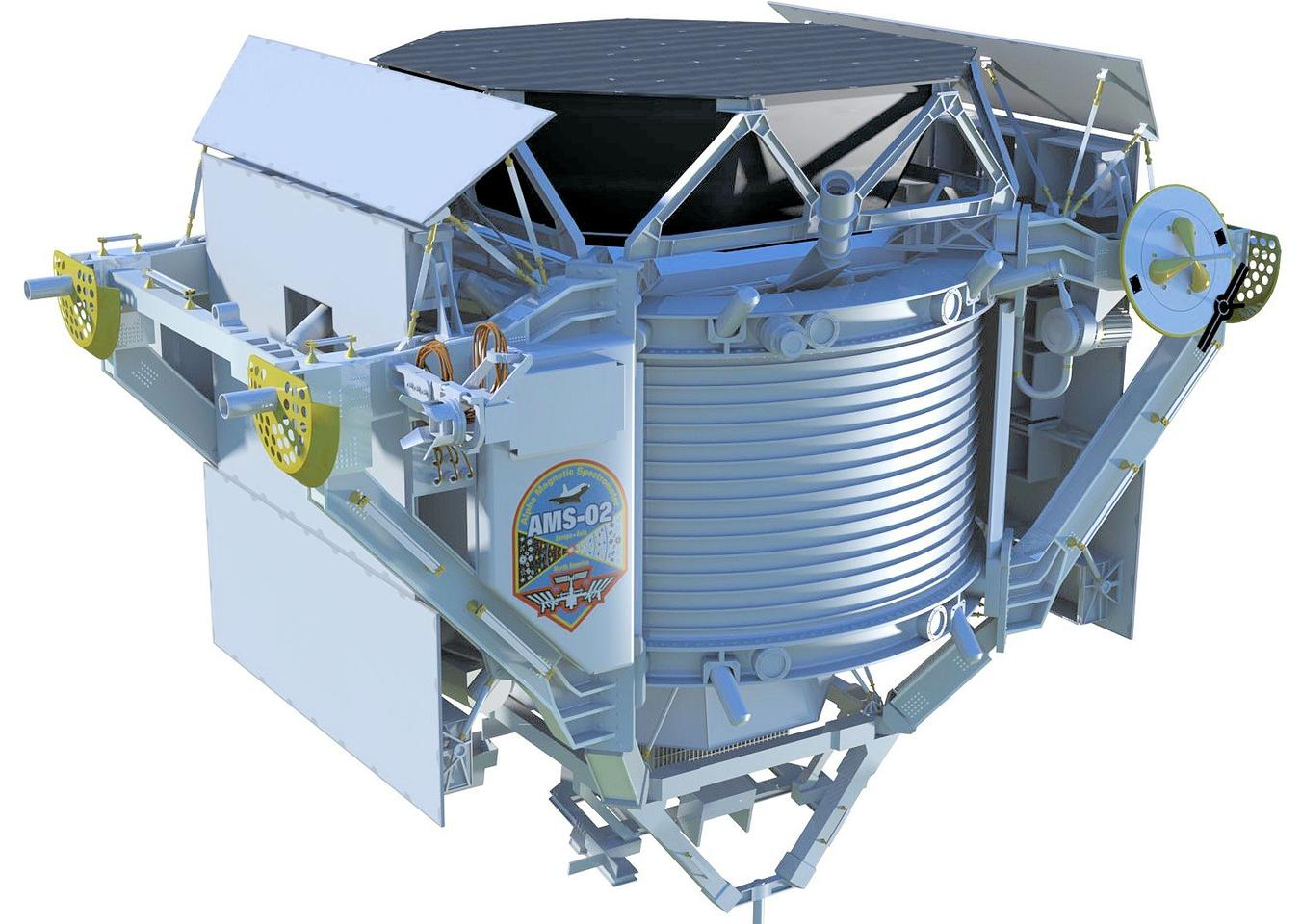 The Alpha Magnetic Spectrometer before installation on the International Space Station