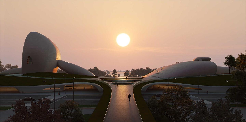 Парк культуры залива Шэньчжэнь будет расположен в районе Хоухай района Шэньчжэнь Наньшань, который MAD называет «Силиконовая долина Китая».