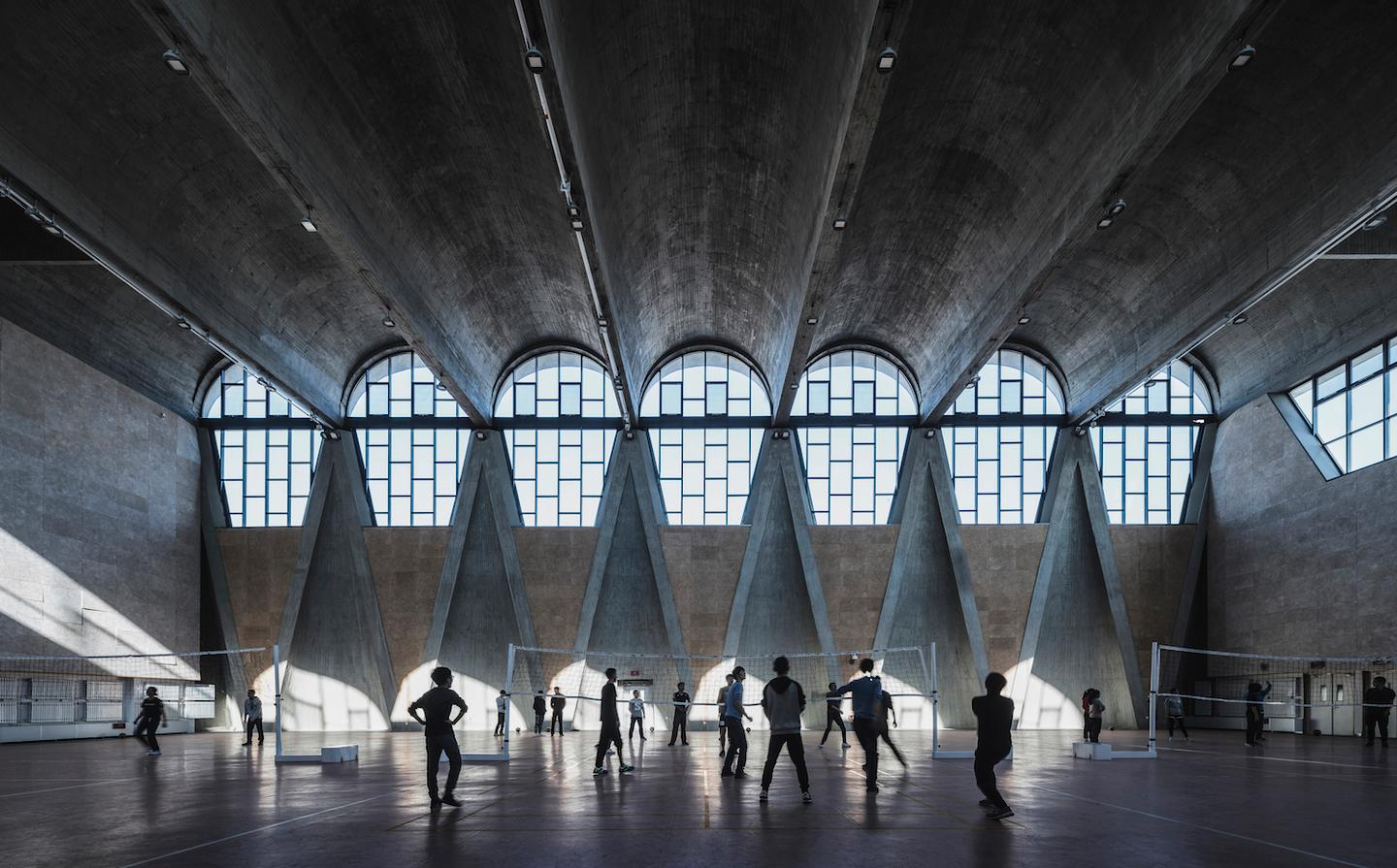 China's Terrence Zhang took this moody photograph of the Gymnasium of the New Campus of Tianjin University, China, by Atelier Li Xinggang. The image was entered into the Buildings In Use category