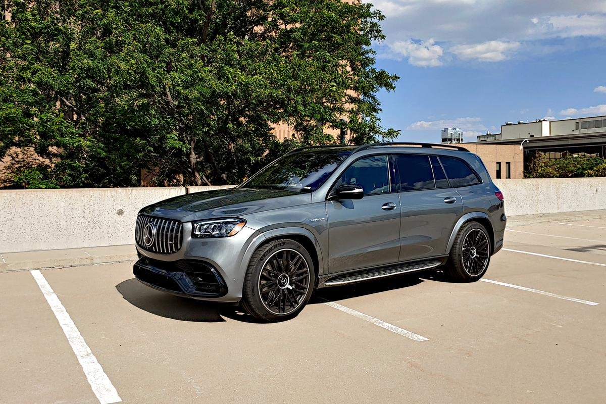 The largest of our test group, the 2021 Mercedes-AMG GLS 63