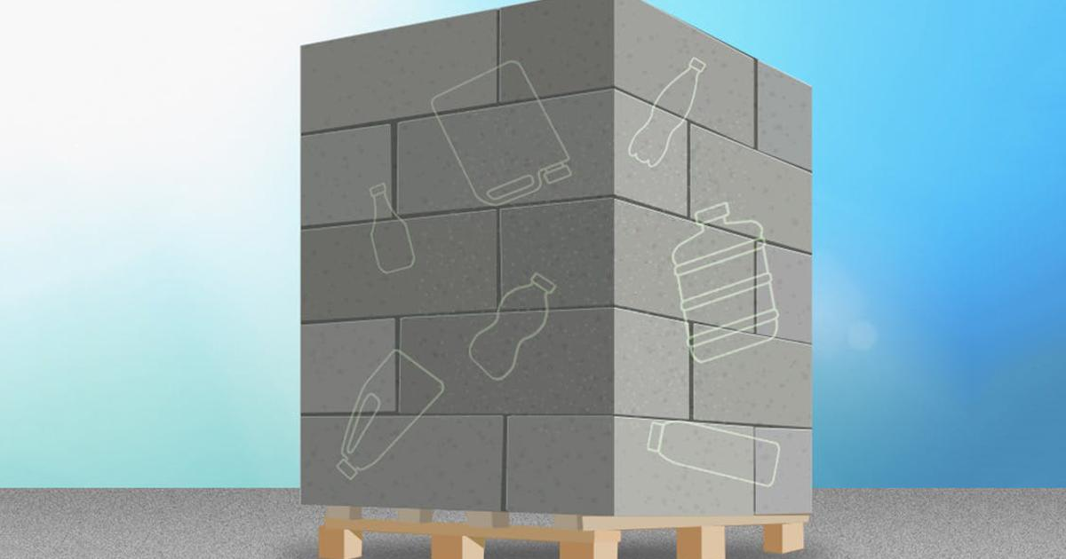 How to make concrete stronger and more environmentally friendly with irradiated water bottles