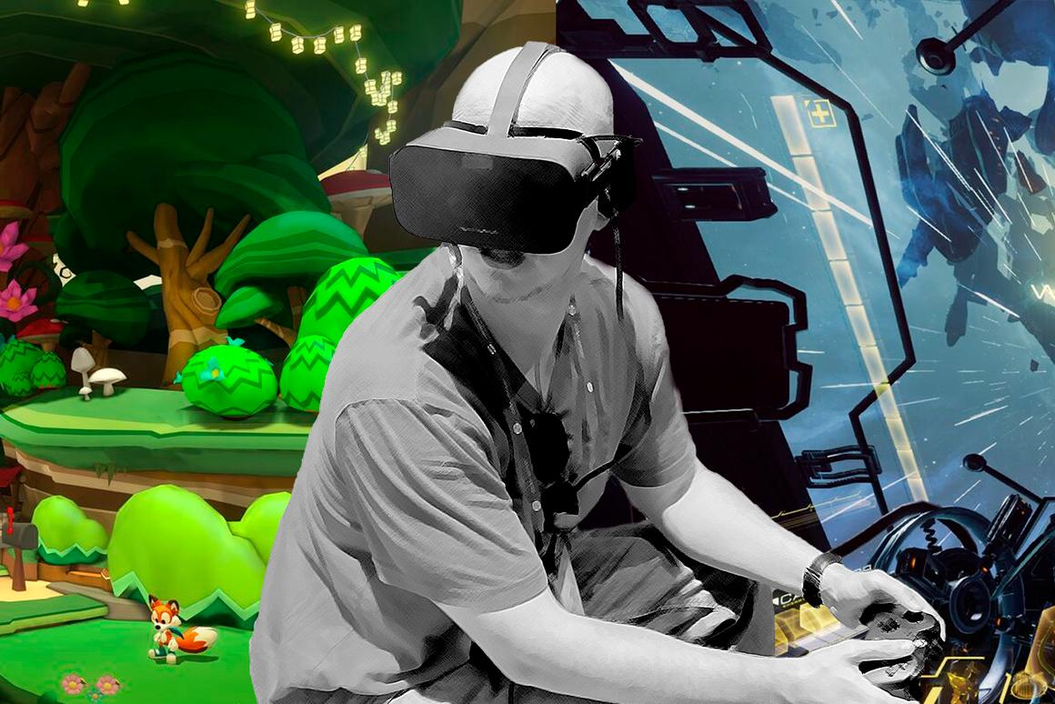 Two top-tier VR games will be bundled with the Rift: Lucky's Tale (left) and Eve: Valkyrie