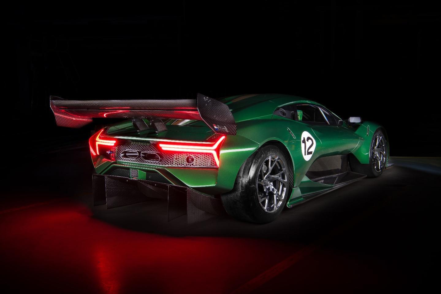 The aerodynamics of the Brabham BT62 impart 1,200 kilos of downforce at speed