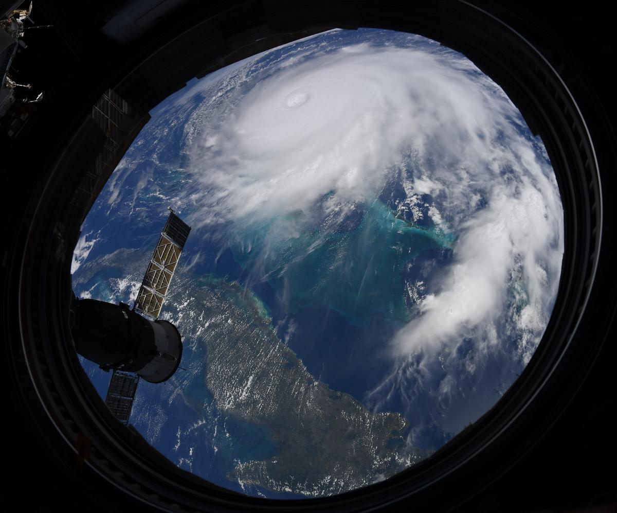 NASA astronaut Christian Koch snapped this photo of Hurricane Dorian on Monday