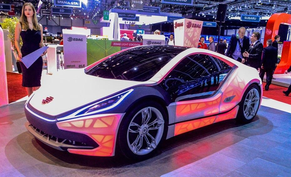 The EDAG Light Cocoon concept at the 2015 Geneva Motor Show