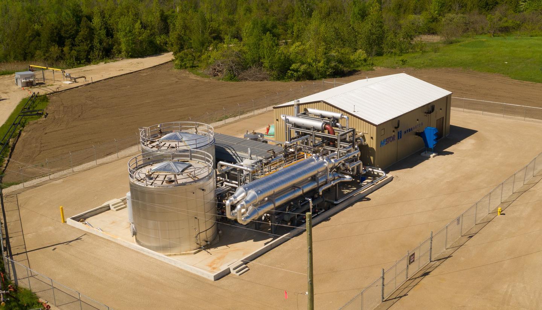 Пилотная установка передового накопителя энергии сжатого воздуха (A-CAES) Hydrostor в Онтарио, Канада