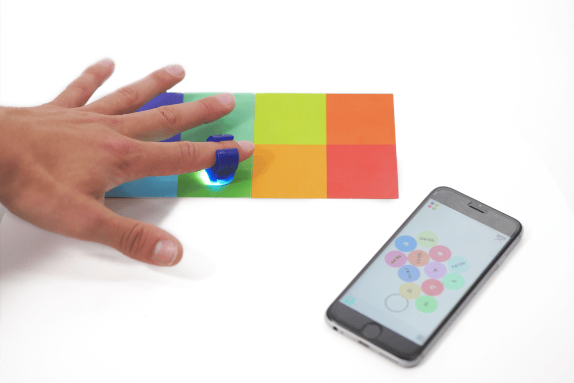 Smart ring taps into color spectrum for anywhere, anywhen