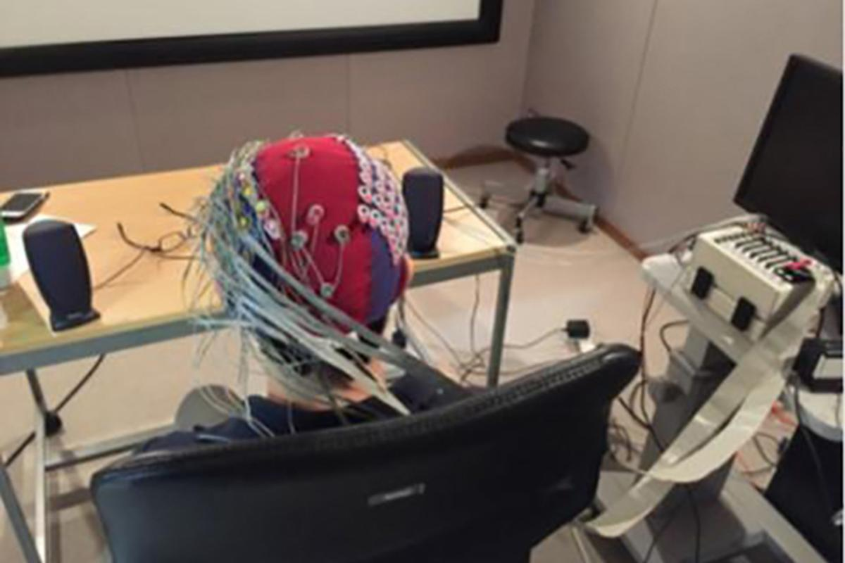The system uses an electroencephalogram (EEG) cap to monitor brain activity