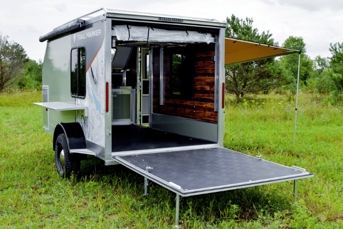 Composite camping trailers blur the line between backcountry