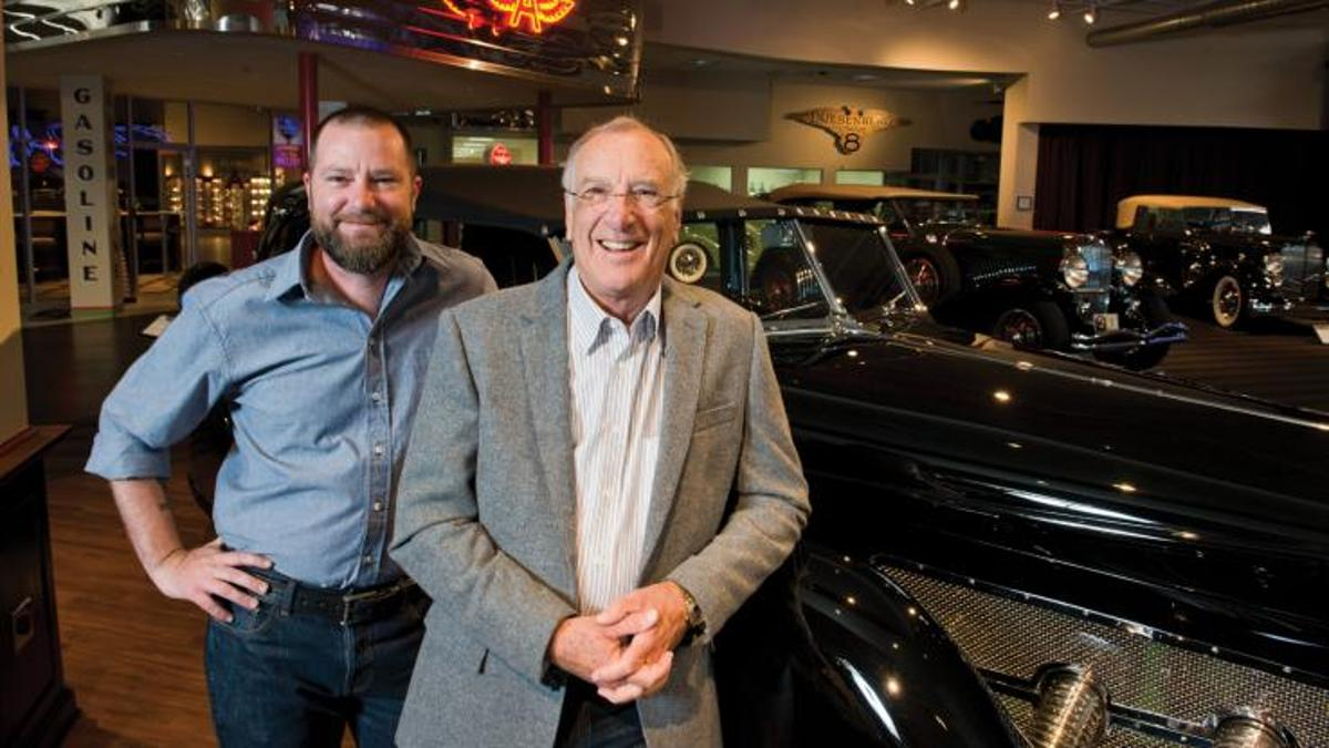The RM-Sotheby's Fort Worth auction contained only part of the collection assembled by the auto enthusiast Andrews family - that's son Chris at left and father Paul at right