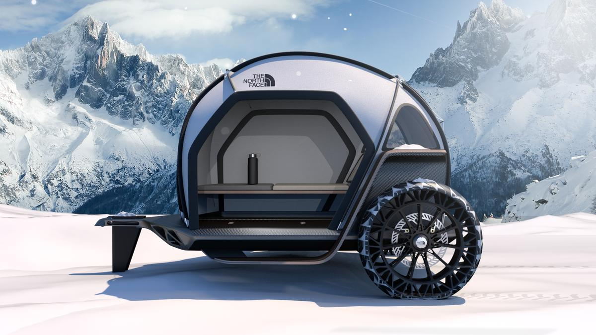 BMW Designworks and The North Face have teamed on the Futurelight concept trailer