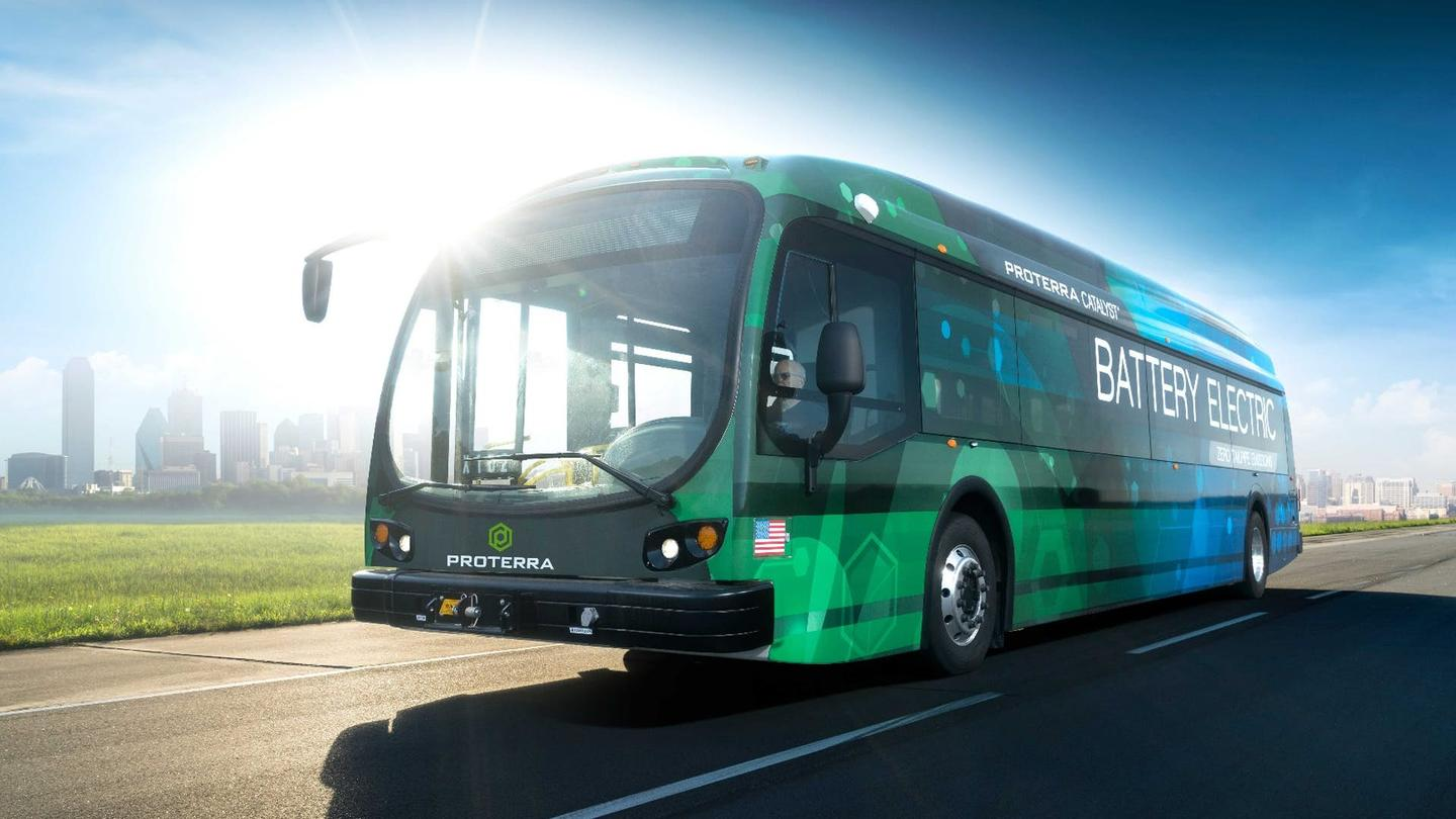 Proterra lists the nominal range of its electric bus as 426 mi (660 km)