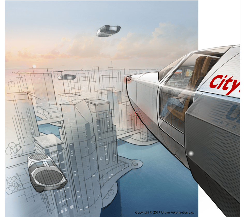 The CityHawk will be capable of carrying four passengers, and will initially be flown by a human pilot