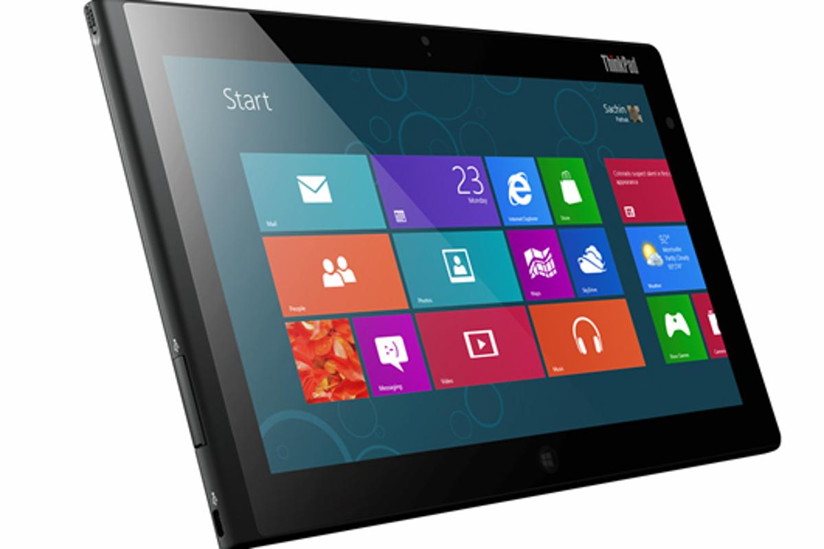 Lenovo's first Windows 8 tablet will be available for the October launch of Windows 8