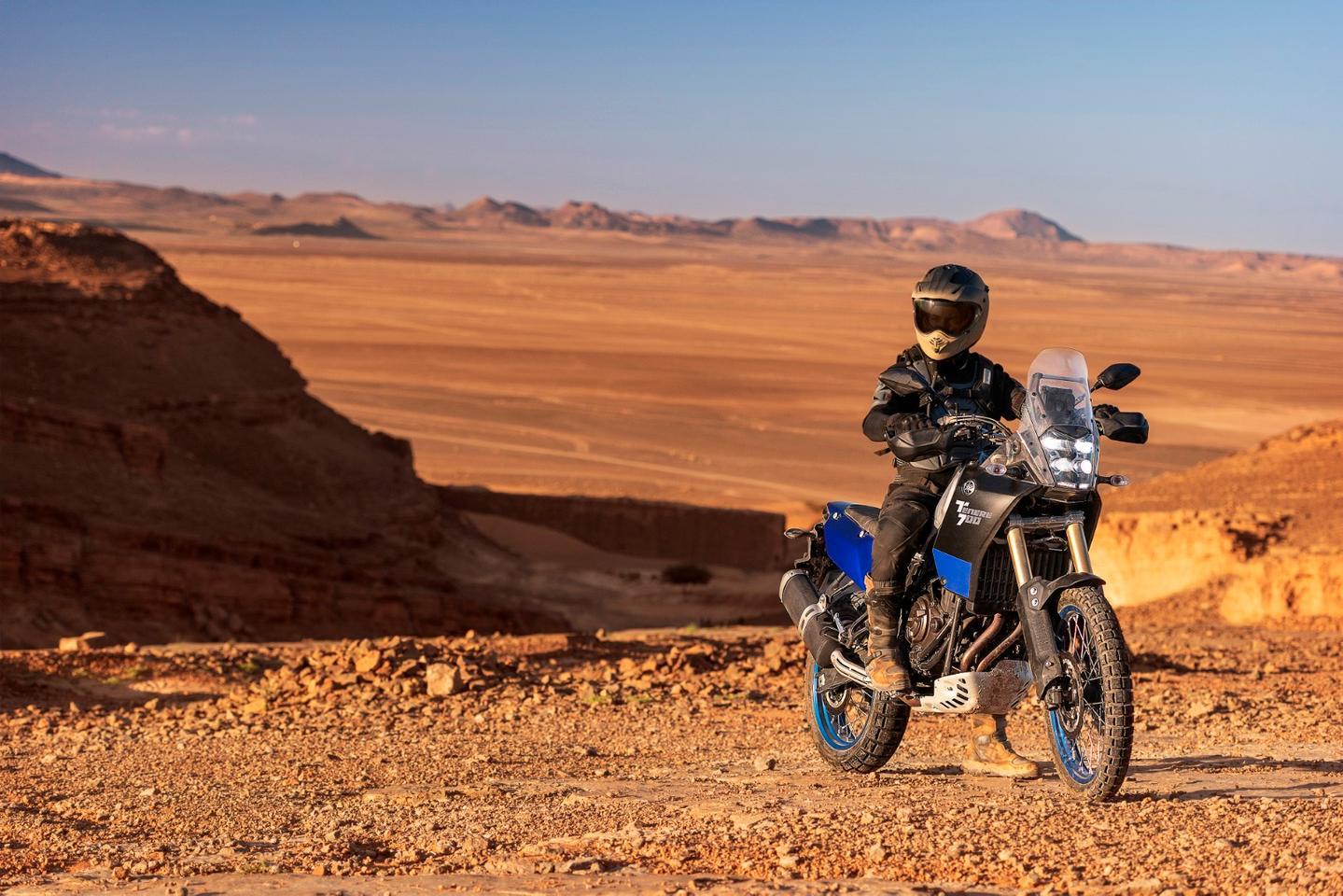 Yamaha Ténéré 700: a relatively basic –and thushopefullyaffordable –rally-style middleweight adventure machine
