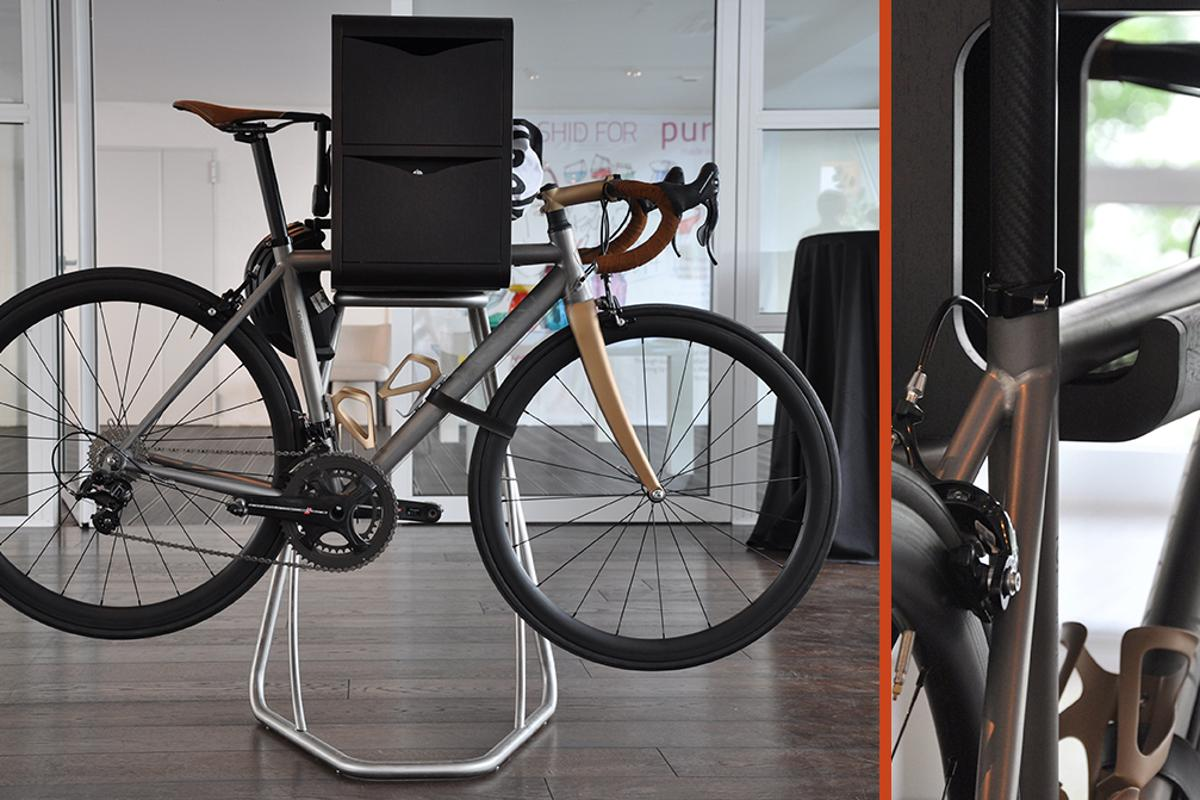 The collection includes three easy-to-use furniture modules, which transforms your bike into an interior show piece (Photo: Edoardo Campanale/Gizmag)