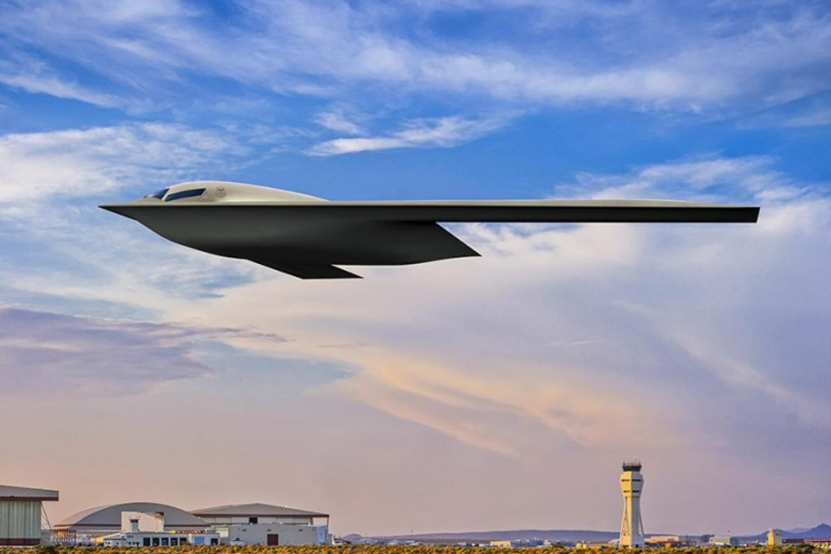 An artist's concept of the B-21 Raider