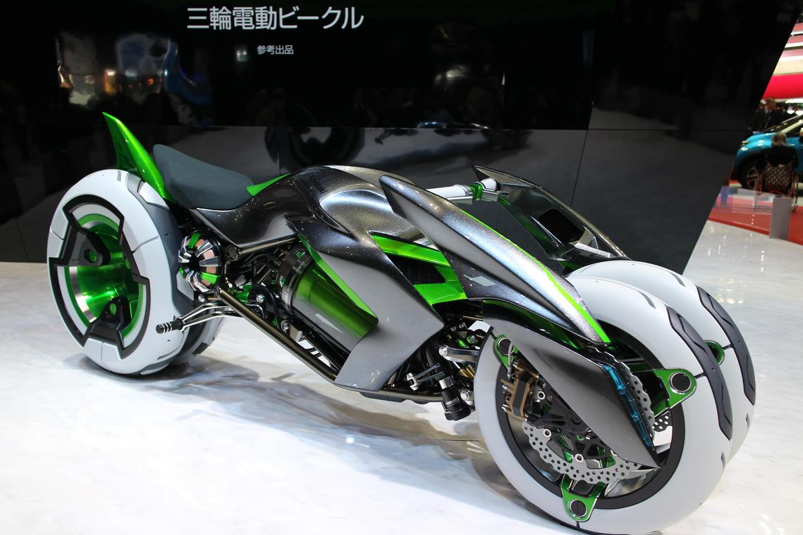 Kawasaki's J concept on show at the 2013 Tokyo Motor Show (Photo: Mike Hanlon /Gizmag.com)