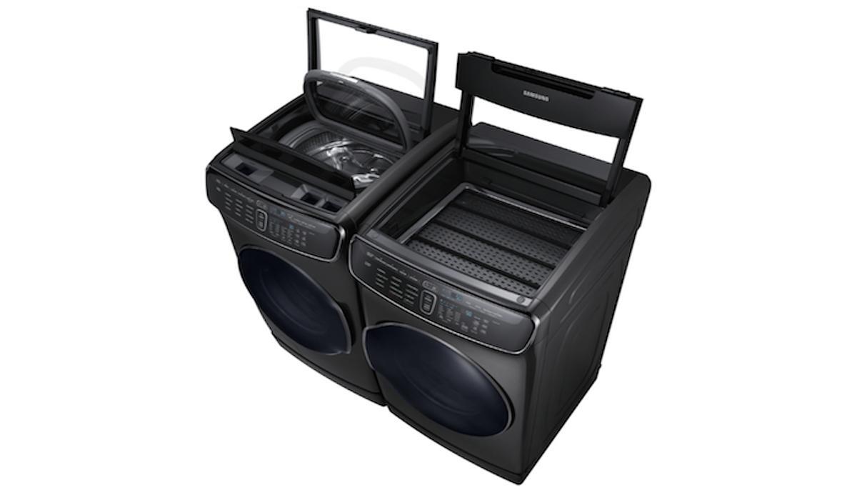 The Samsung FlexWash + FlexDry is a 4-in-1 washer-dryer