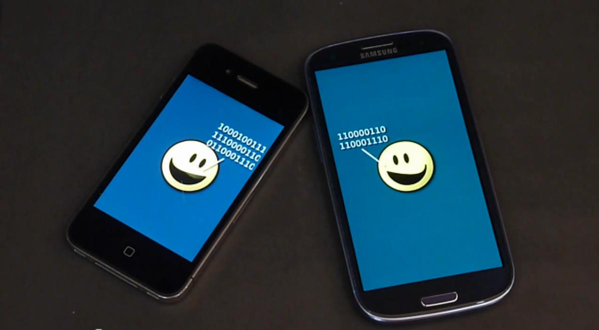 NearBytes uses sound to transfer data between devices