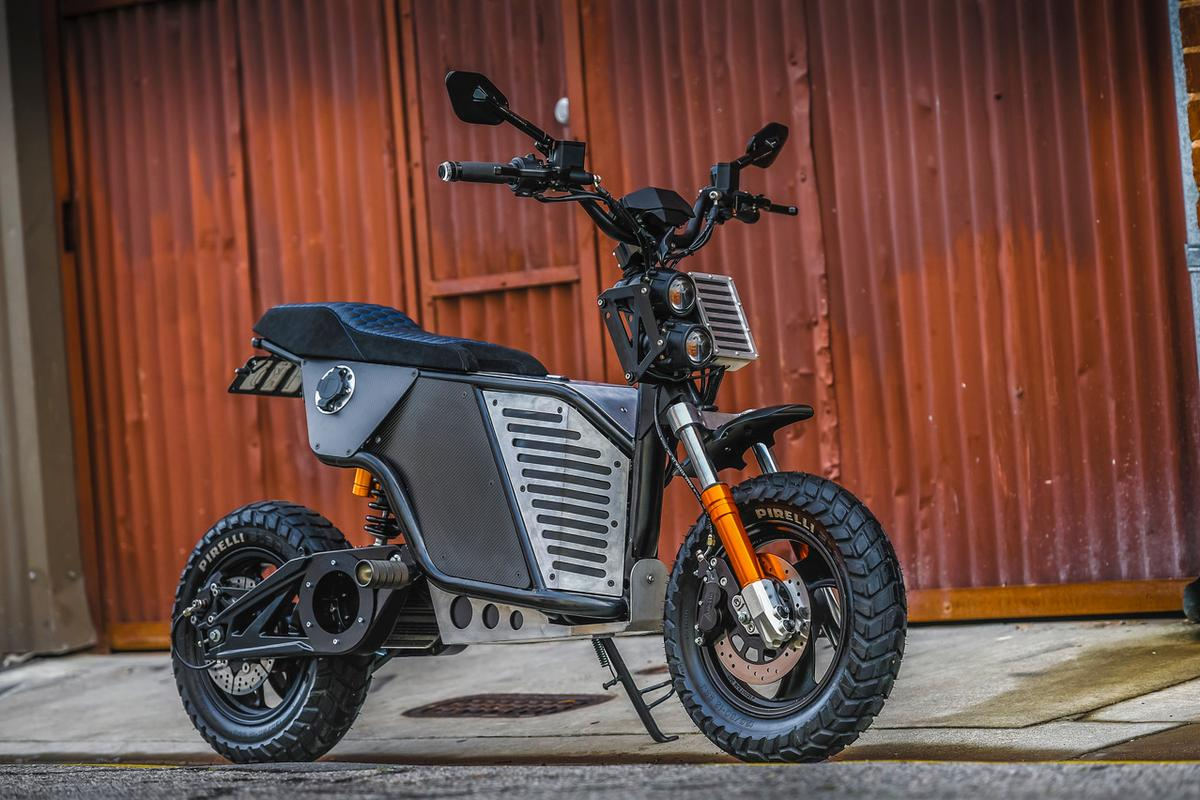 The Fonzarelli NKD: a stylish, rugged urban dualsport electric motorcycle