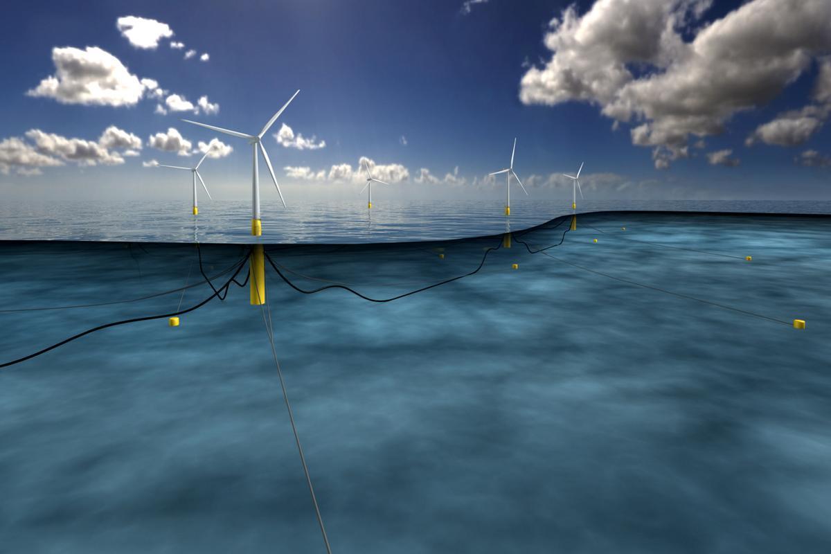 The Hywind Scotland pilot park will be the world's first wind farm with five wind turbines generating six megawatts each