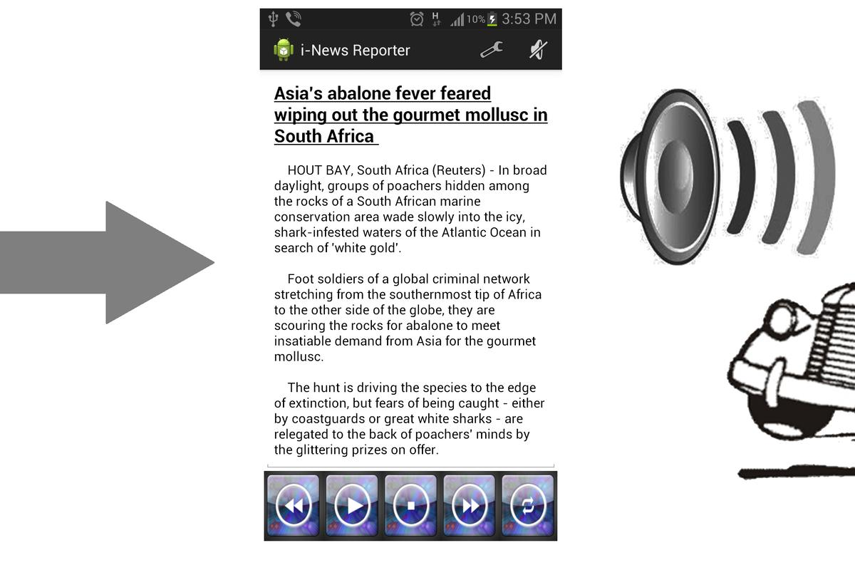 An example of a news article displayed in the app (Image: Dr. Wee Kuok Kwee)
