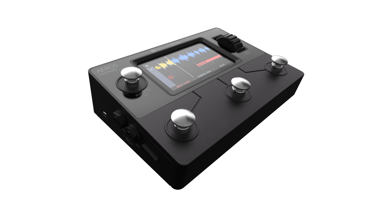 The Aeros Loop Studio is described as pedalboard-friendly, but with7.8 x 5.6 x 2.2 inch dimensions, it will dominate the board