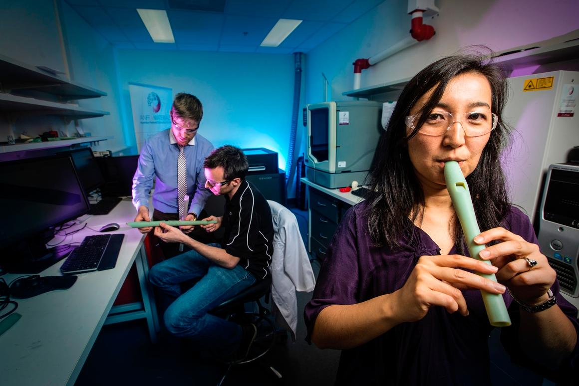 The custom microtonal flutes are the work of researchers at Australia's University of Wollongong (UOW)