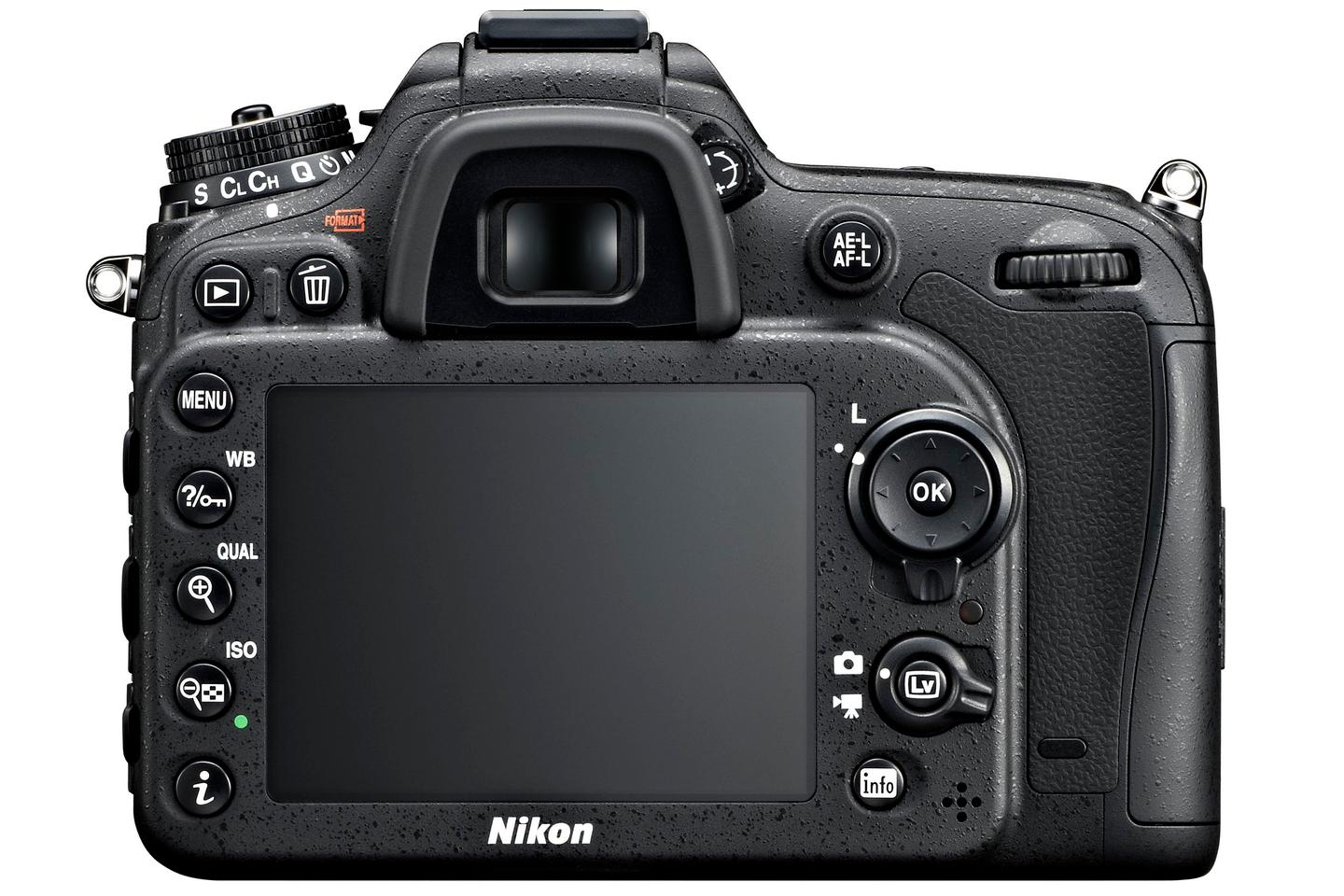 There's a 3.2-inch LCD with 1,229k dots on the rear of the Nikon D71000