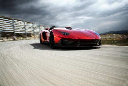 "Lamborghini called the Aventador J ""a one-of-a-kind piece of art"""