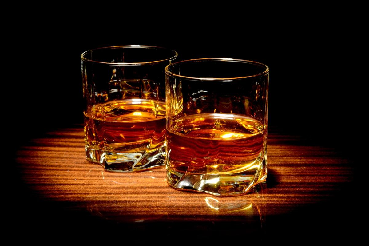 Slightly diluting whisky can improve its taste