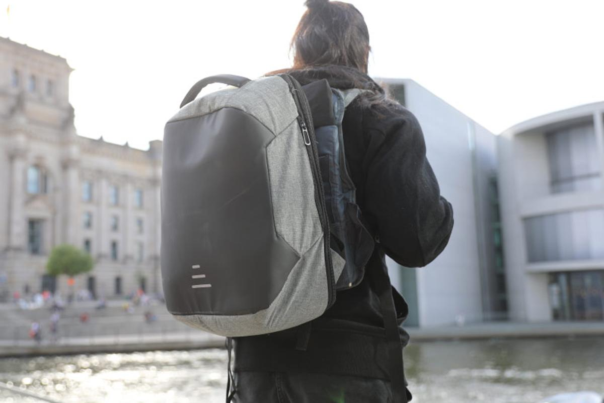 Moonr's suspension backpack is claimed to make heavy loads easier to walk with