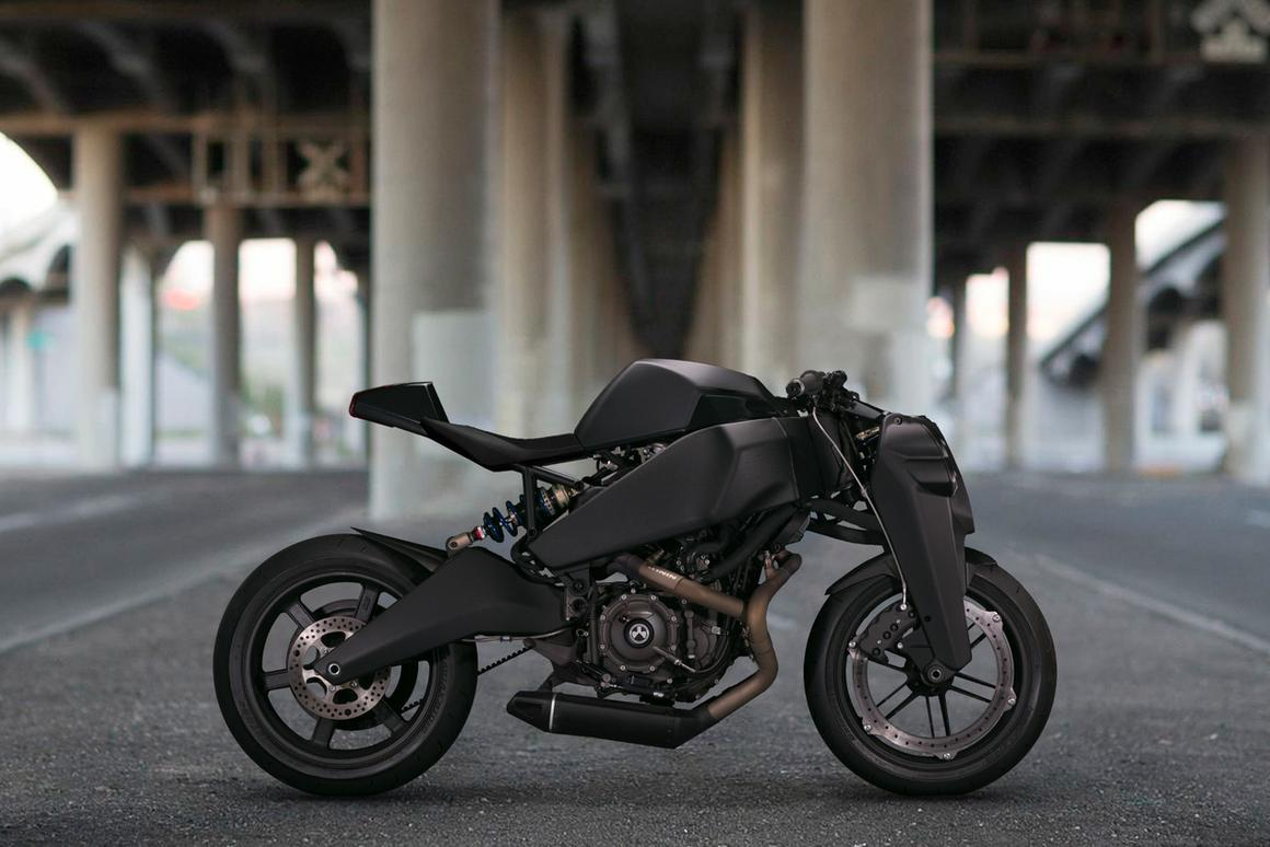 The gorgeous, imposing Ronin - one of 47 custom bikes to be built from the Buell 1125 platform