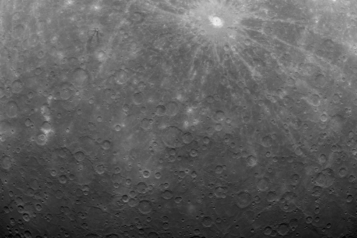 The first image of Mercury captured from orbit by MESSENGER (Image: NASA)