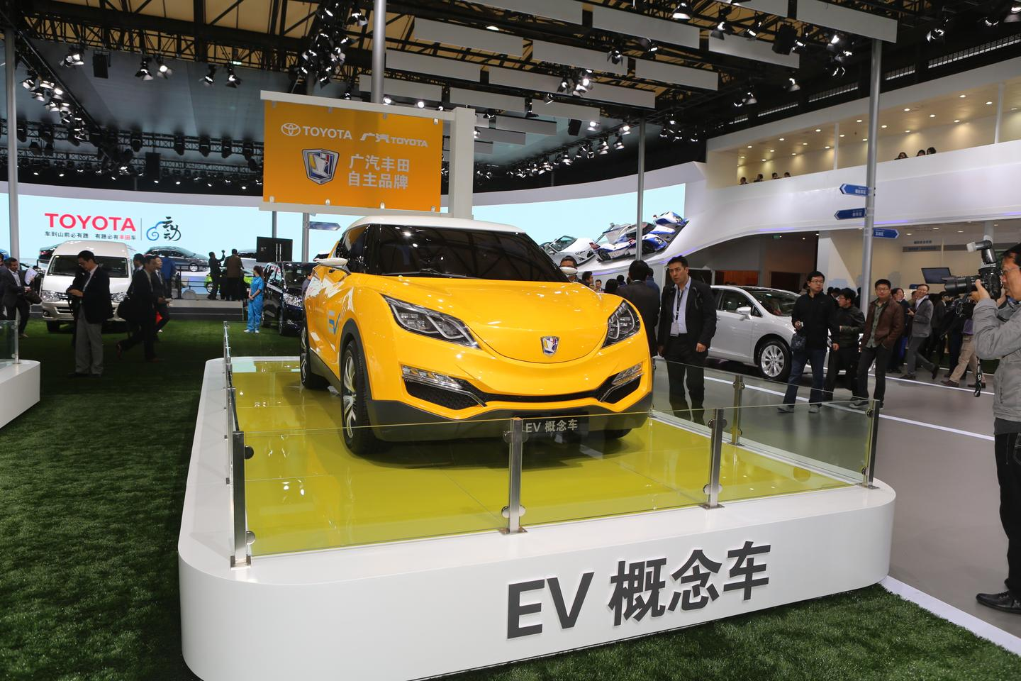 Guangzhou-Toyota Group presented this mid size EV SUV in Shanghai