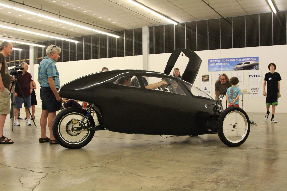 The prototype Raht Racer – Raht standing for Recumbent Human Automobile Transit