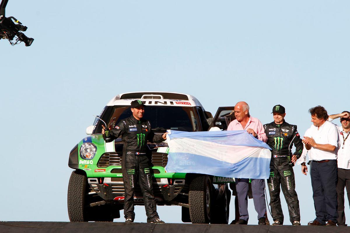 Peterhansel and his MINI ALL4 Racing