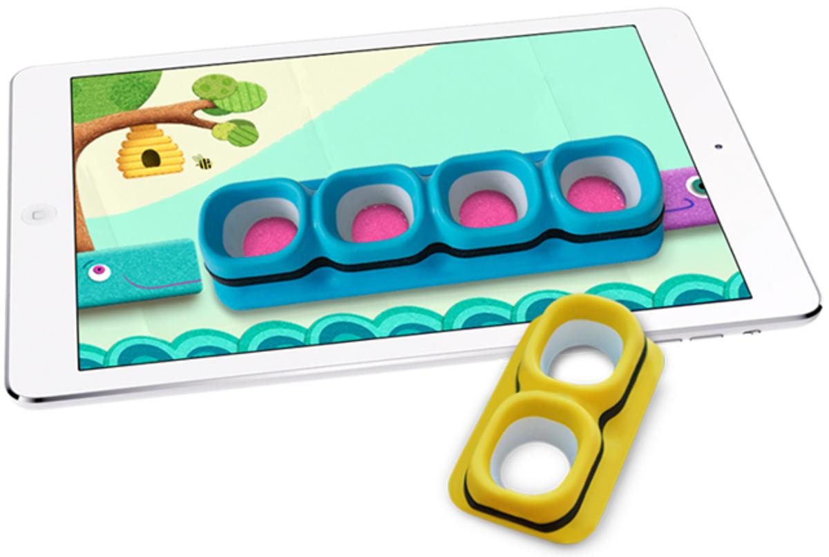 Tiggly Counts uses physical toys and the iPad to teach basic math