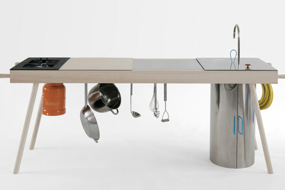 The Critter is a portable modular kitchen for indoor/outdoor use